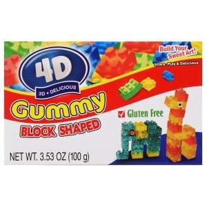 4D Delicious Gummy Blocks Theatre Box (3.53oz)