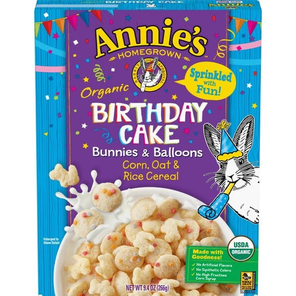 Annie's Birthday Cake Cereal (9.4oz)