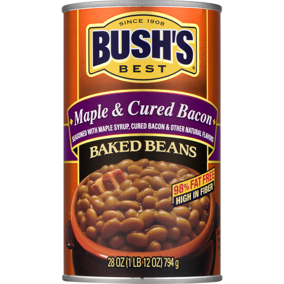 Bush's Maple and Cured Bacon Baked Beans (28oz)