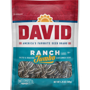 David's Jumbo Sunflower Seeds Ranch (3.75oz)