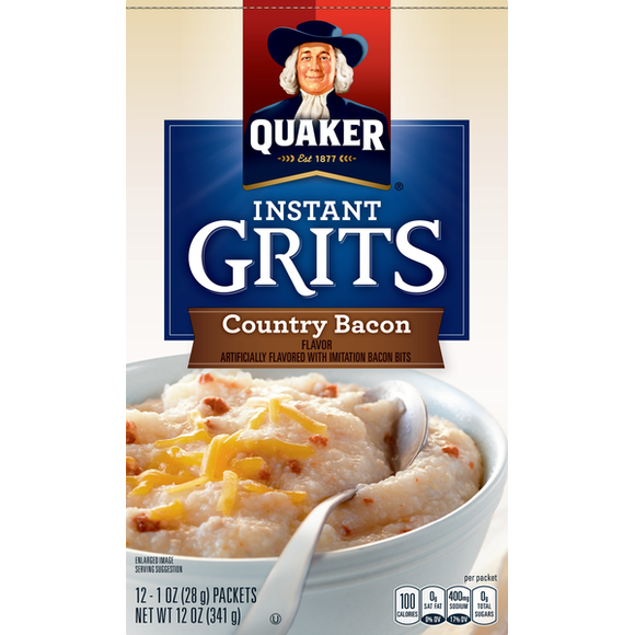 Quaker Instant Grits Country Bacon (12oz)