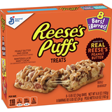 Reese's Puffs Cereal Snack Bars 8-(6.8oz)