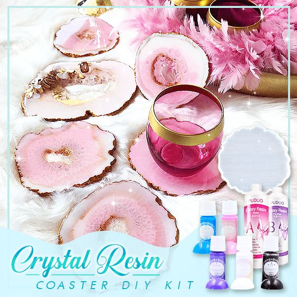 Crystal Resin Coaster DIY Kit (50% Off)