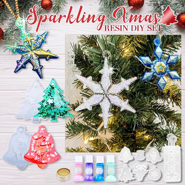 Sparkling Xmas Resin DIY Set