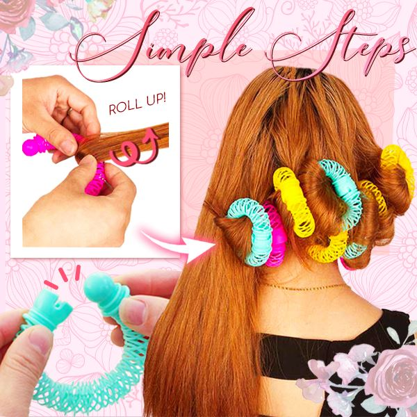 Donut Spring Hair Curlers (14 Pcs)