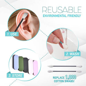 Reusable 2-in-1 Silicone Swab