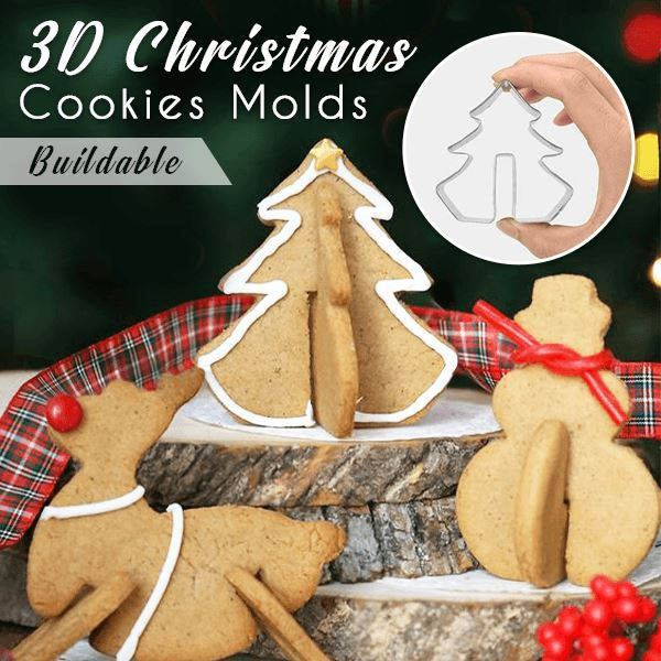 3D Christmas Cookies Mold (Set of 8)