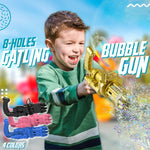 8 Holes Gatling Bubble Gun