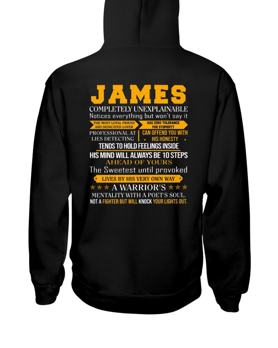 James - Completely Unexplainable Classic T-Shirt harmoninie Hooded Sweatshirt Black S