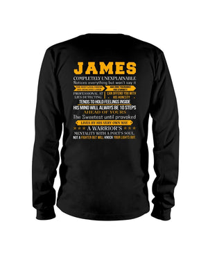 James - Completely Unexplainable Classic T-Shirt harmoninie Long Sleeve Tee Black S