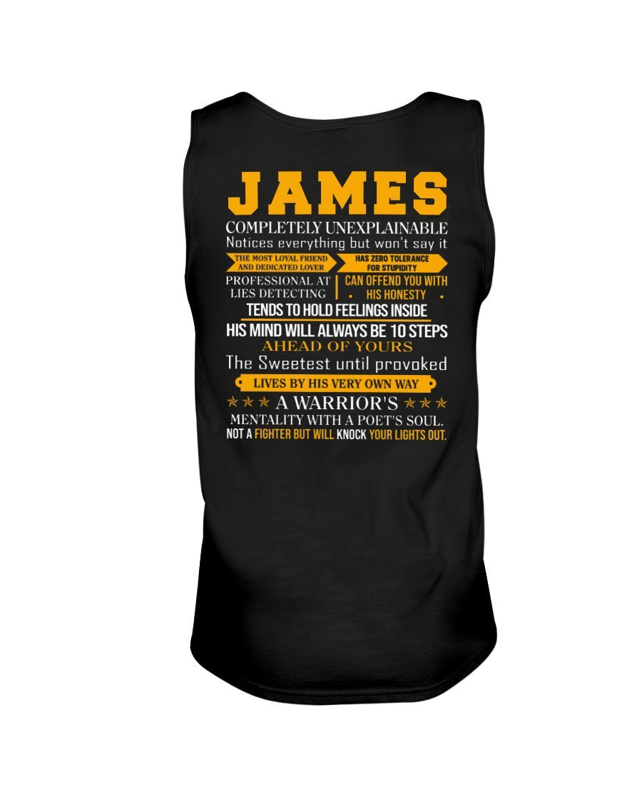 James - Completely Unexplainable Classic T-Shirt harmoninie Unisex Tank Black S