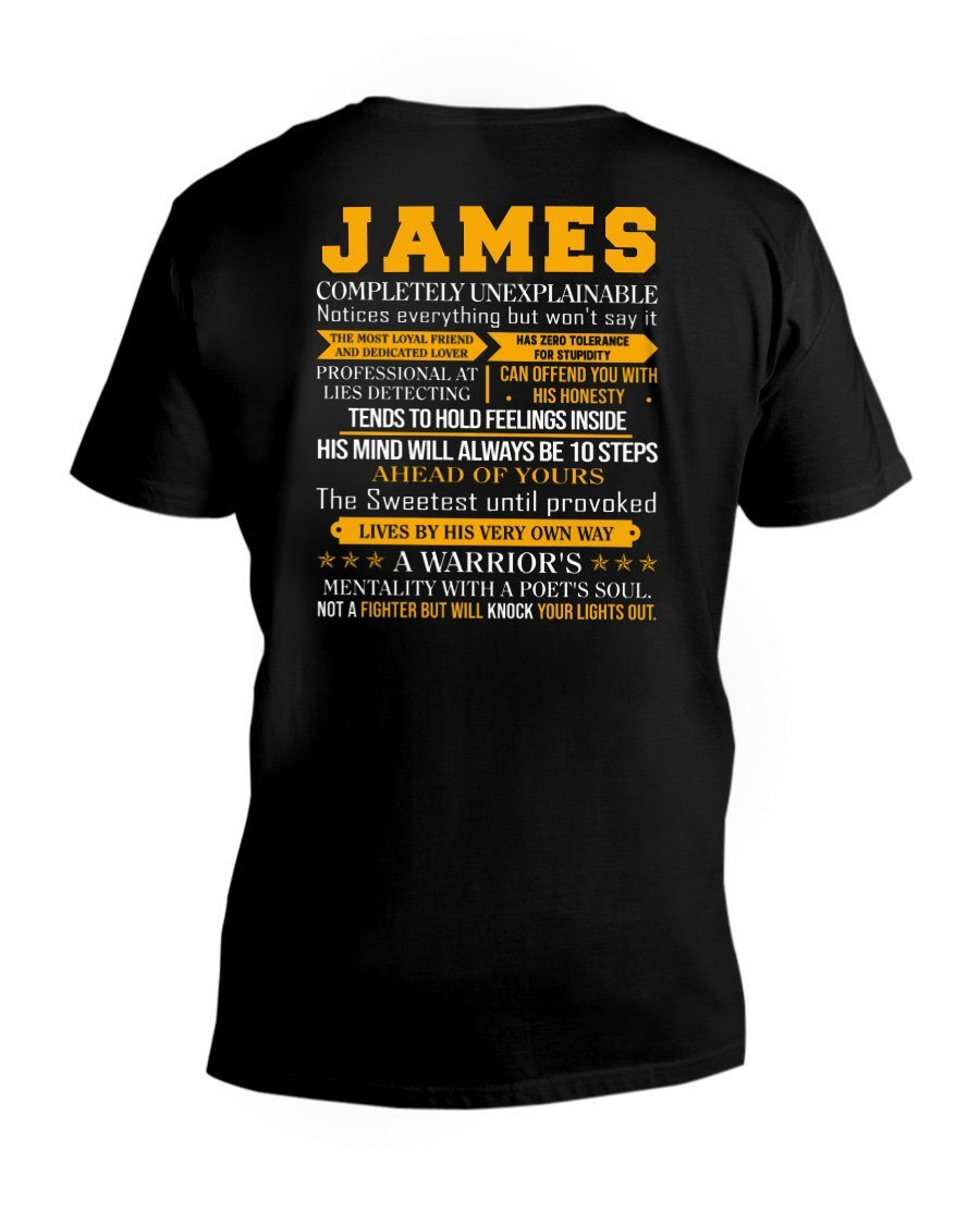 James - Completely Unexplainable Classic T-Shirt harmoninie V-Neck T-Shirt Black S