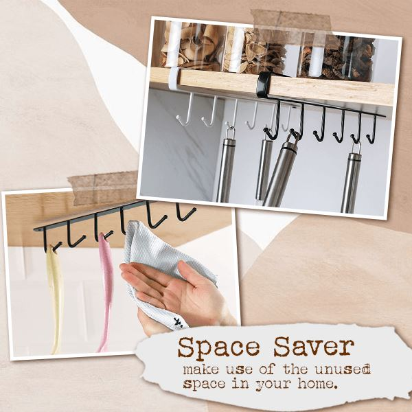 Under-Cabinet Hanger Rack (6-Hook)