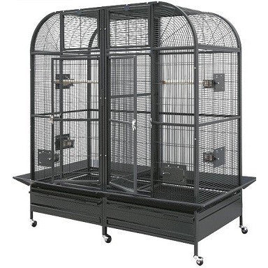 "HQ Double Macaw with Divider 64"" x 32"""