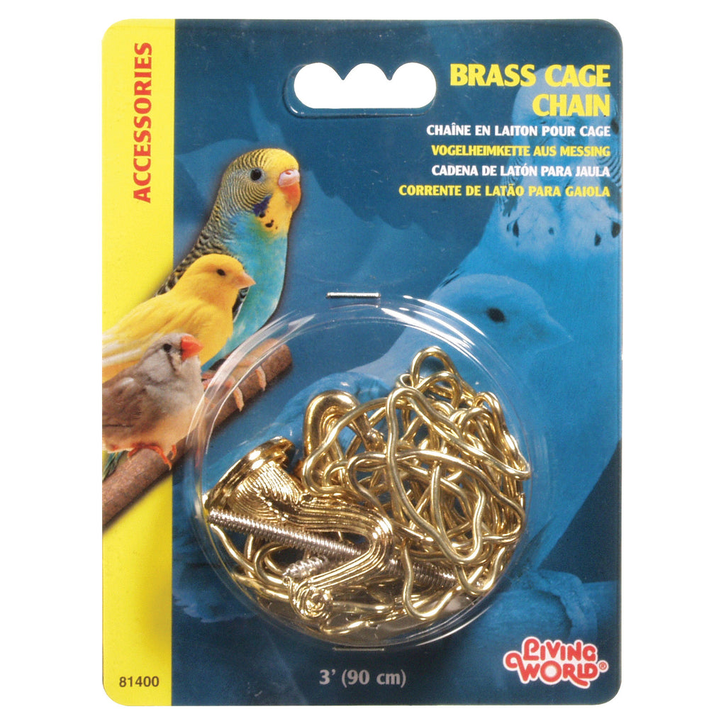 Brass Cage Chain 3 ft