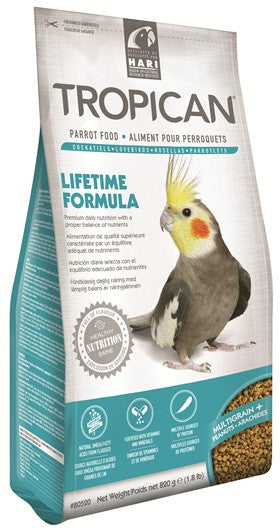 Tropican Lifetime Cockatiel 1.8 lb