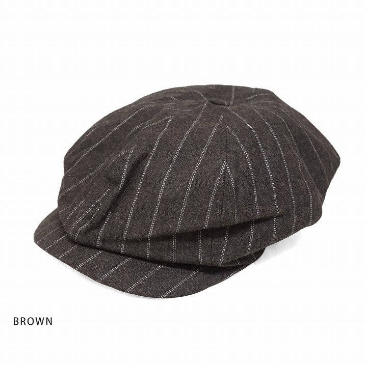 Casket Cap Men's Women's Hunting Brimmed Stripe Wool Mix Keys 1-Pack