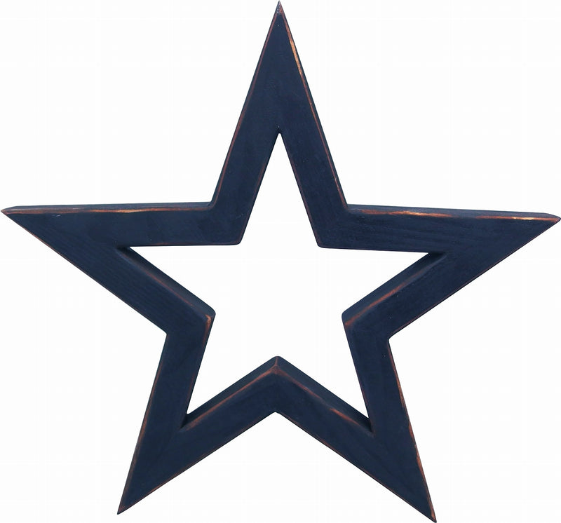 Wooden Table Star L Navy WOTASTLN