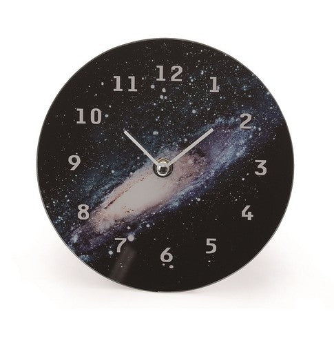 Cosmic glass clock table Galaxy COGLTAGA
