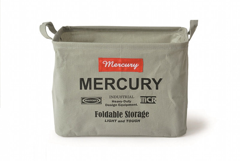 Mercury Canvas Rectangle Box M Gray MECARBMG