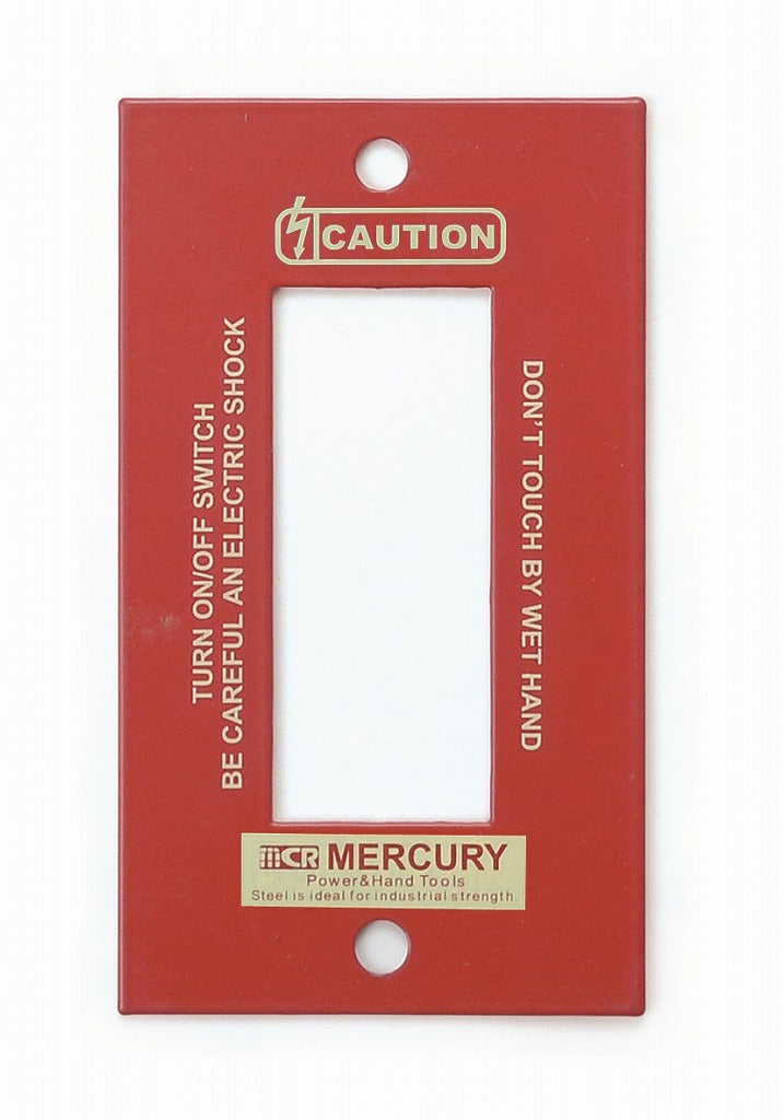 MERCURY switch plate 3-prong Red MESWPL3R