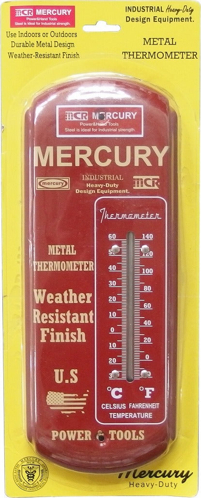 Mercury Thermometer Long Red METHLORD