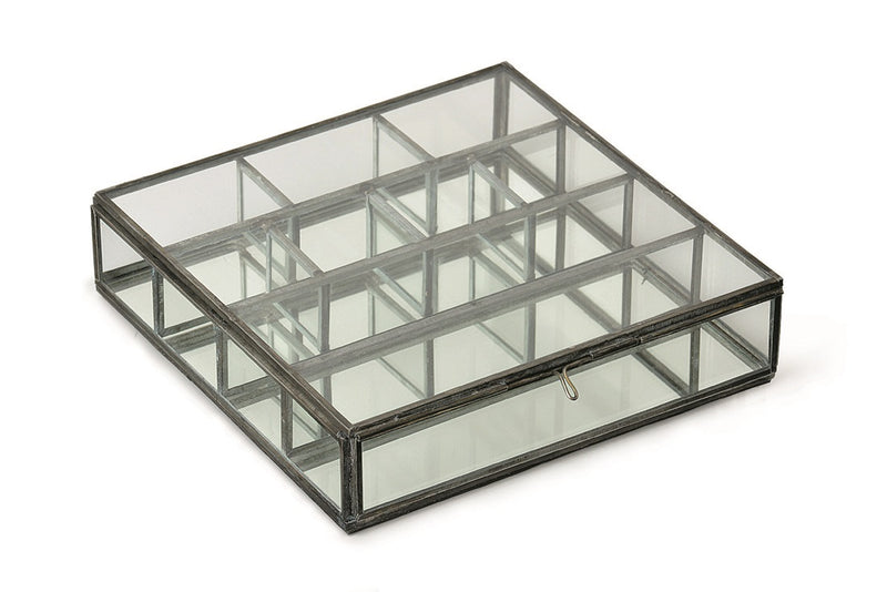 Glass Collection Partition Case Square Black GLCOPASK