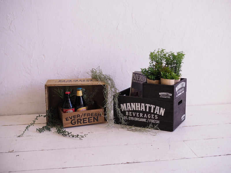 Wood Harvest Box Stackable Manhattan S WOHESTMS