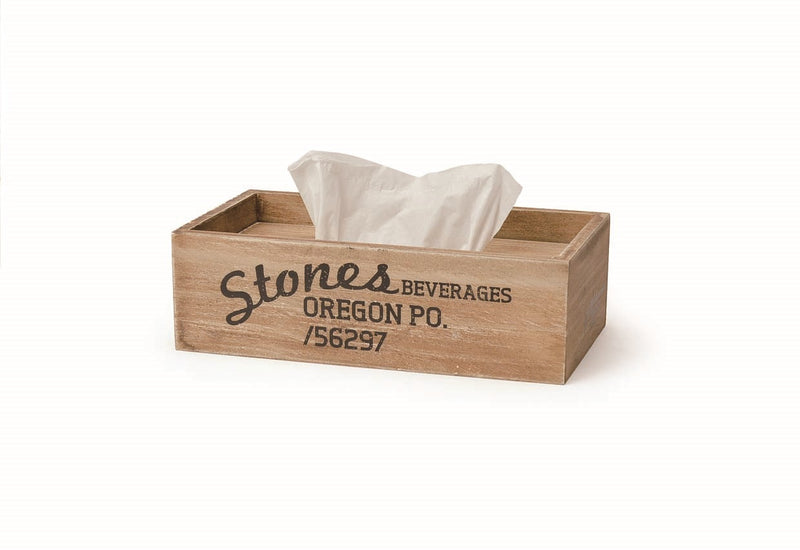 Wood Harvest Tissue Box Stones WOHETBST