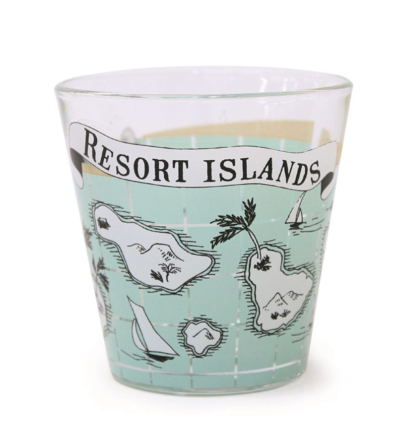 Resort Glass Tumbler Short Resort Island REGLTSRI