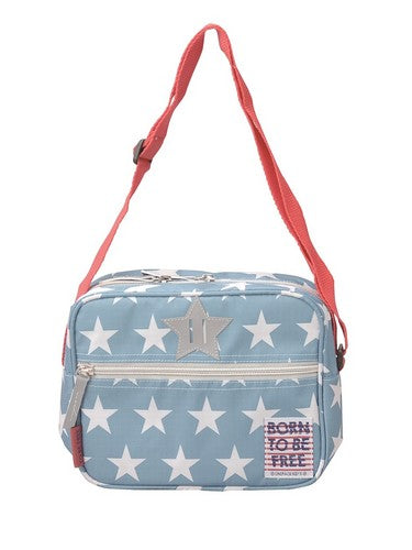 BORN TO BE FREE School Shoulder Light Blue BOFRSSLB