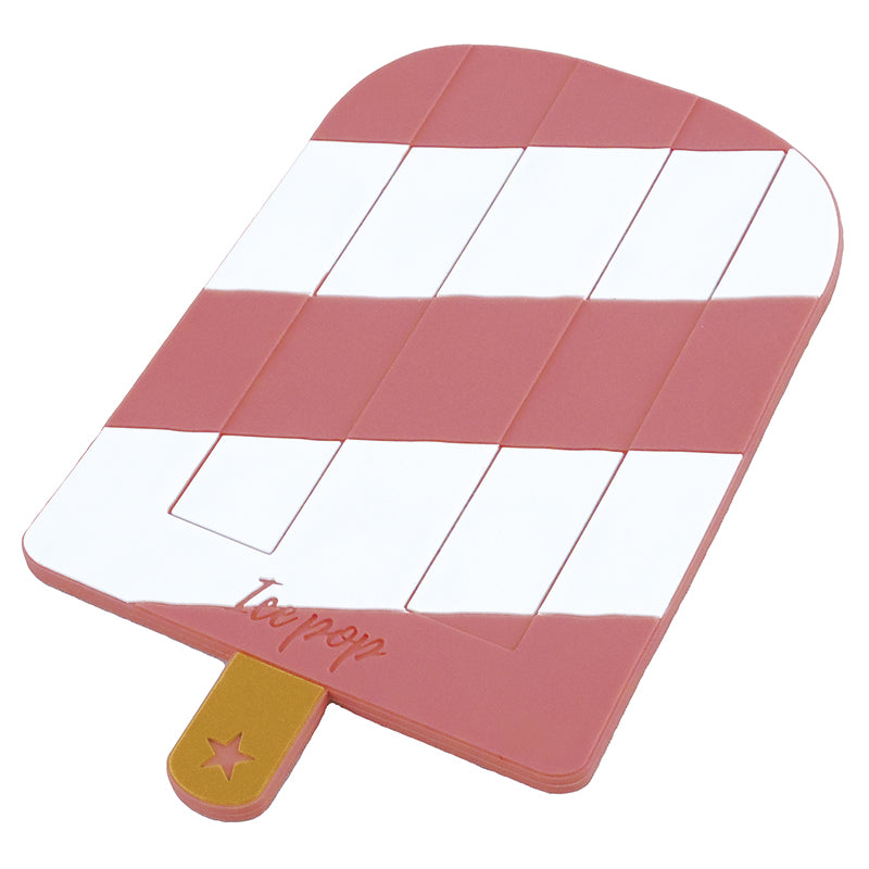 Silicone coaster ice cream Red BGR-652