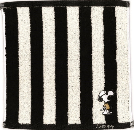 Snoopy Monotone Mini Towel Stripe 4010114