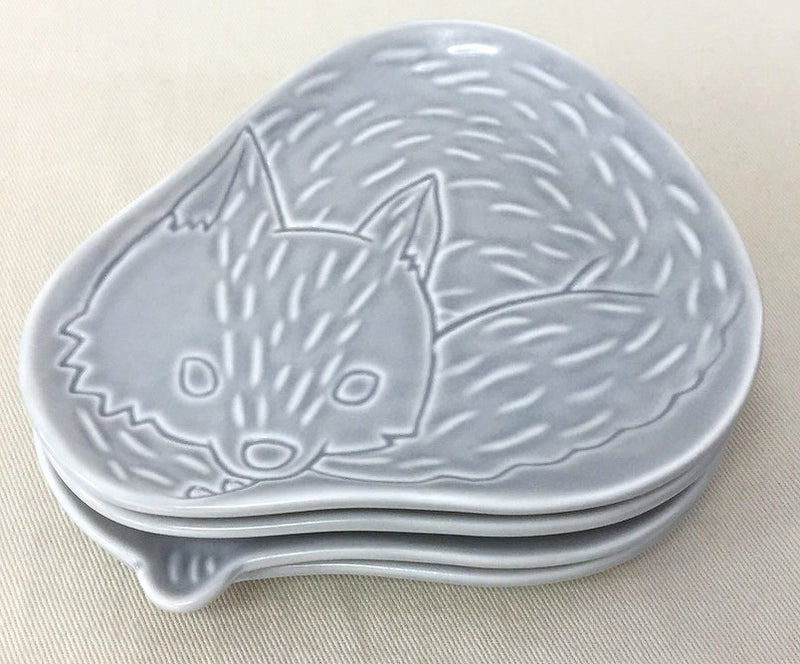 Leaten small dish, owl ★2, ivory 51267
