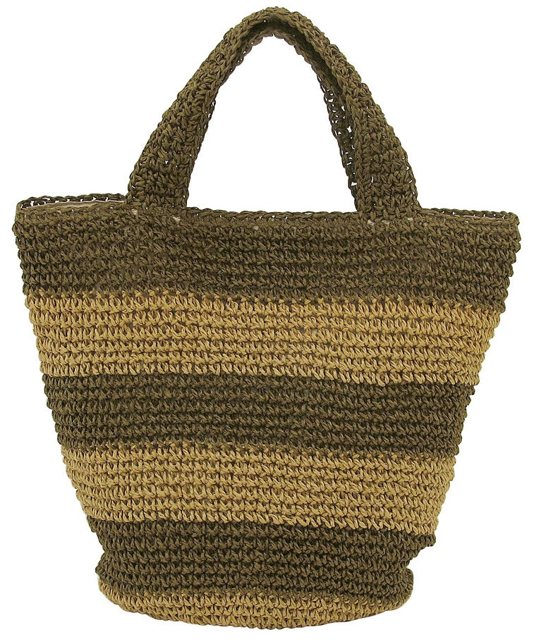 Paper Tote with Thick Border Khaki 70928