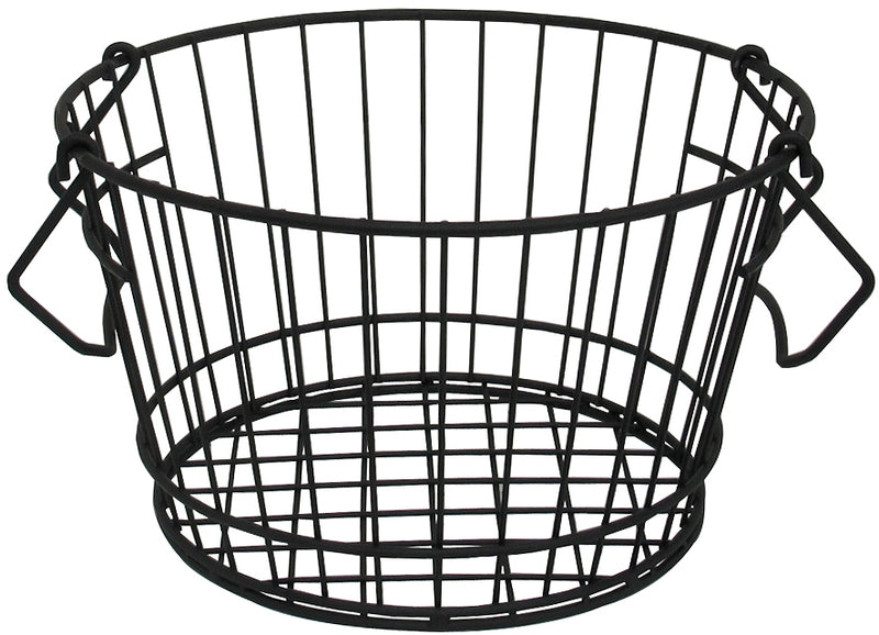 Iron Round Basket Black 51242