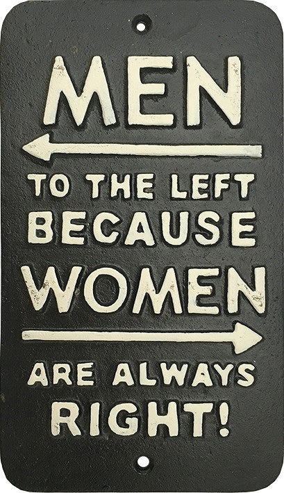 Iron Plate Men Man Left Woman Right SLW053