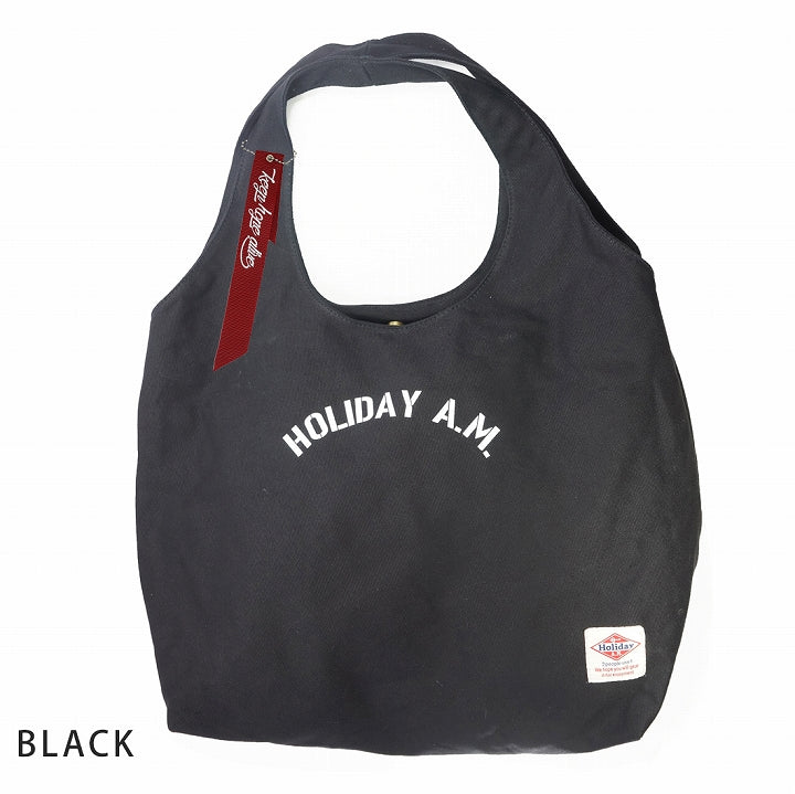 Bag Tote Men's Women's Large Size Big Tote Cloth Tote Canvas HolidayA.M. 1 pair