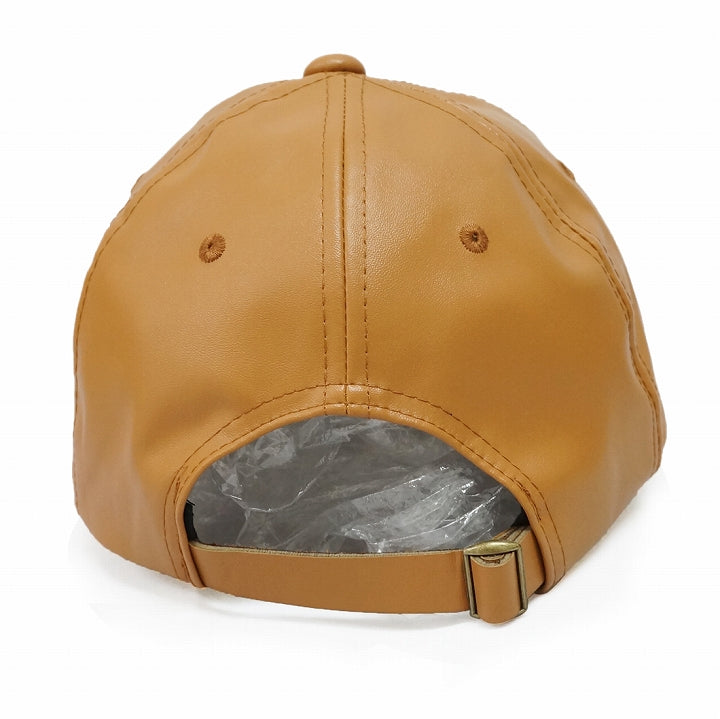 Hat Cap Men's Women's Faux Leather Baseball Cap Solid Synthetic Leather Fall Winter Spring Keys 1 Pair