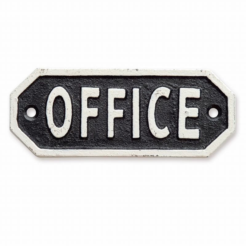 Sign Plate OFFICE Black 63580