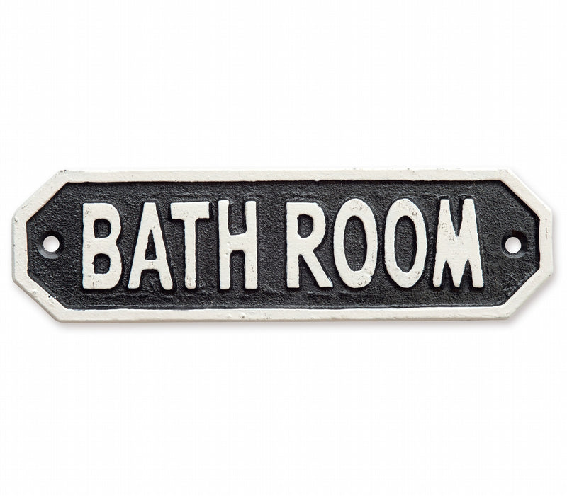 Sign Plaque BATH ROOM Black 63586 [Out of stock / Scheduled to arrive in mid-November