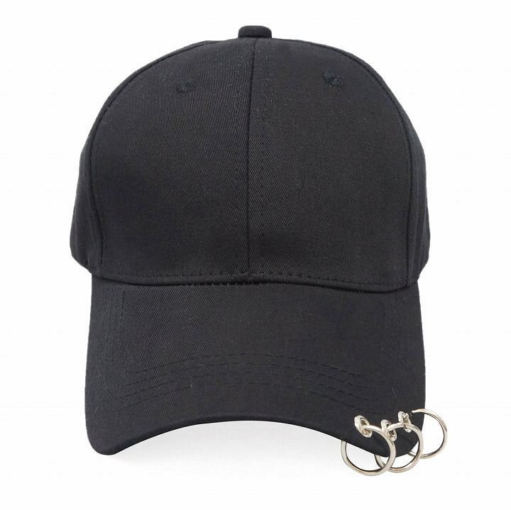 Hat Cap Men's Women's Cotton Twill Baseball Cap with Ring Spring, Summer, Fall, Winter Keys 1 pair