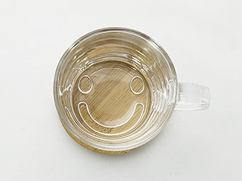 good day cafe smile glass mug A054