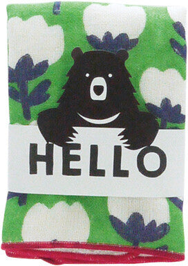 HELLO BEAR Handkerchief Ribbon [Made in Japan] A293RI