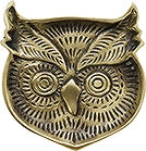 FORESTA Brass Face Tray Owl K737OW