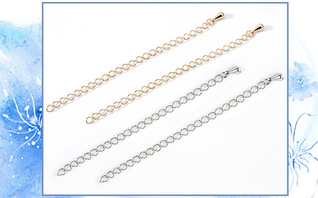 Basic metal fittings [Clasps for necklaces] Adjuster 10 pieces per case