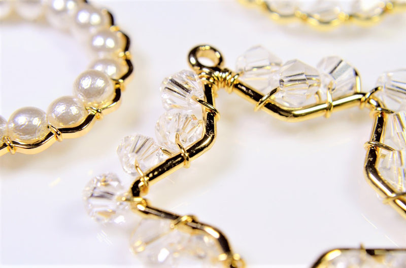 [Trend Parts] Wire Braided (Glass Beads & Pearl Beads) 4pcs per case