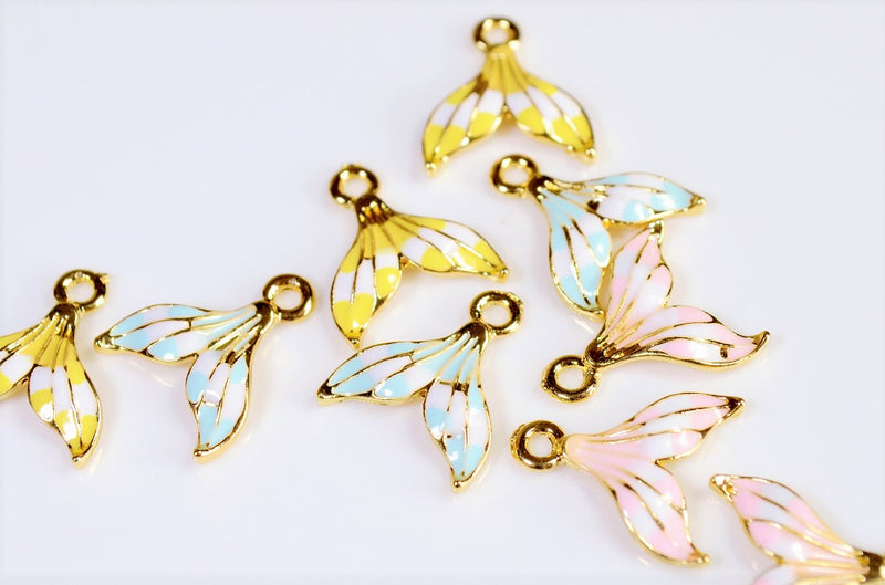 Summer Accessories] Mermaid Parts - Tails Charm - Trend Parts - Marine Charm - 10 pieces per case