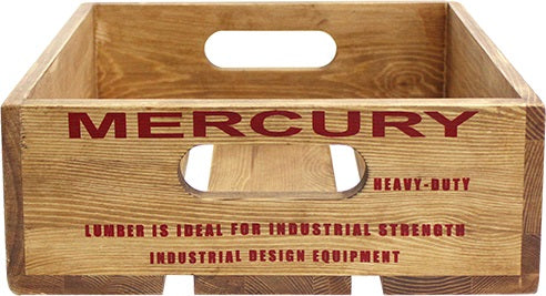 Mercury Wood Crate Natural Red ME045355