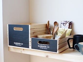 GARNER Wood box, standard, natural A381NT